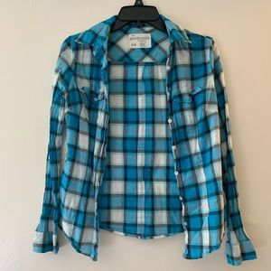 Aeropostale Plaid Button Up Shirt